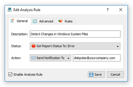 DiskPulse Enterprise Analysis Rule